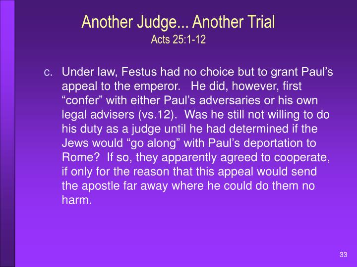 Another Judge... Another Trial