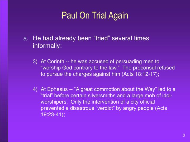 Paul on trial again1