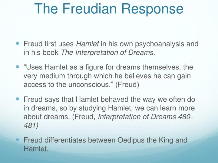 The Freudian Response