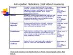 anti rejection medications cost without insurance