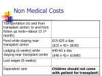 non medical costs