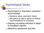 psychological issues