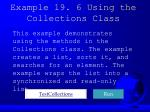 example 19 6 using the collections class