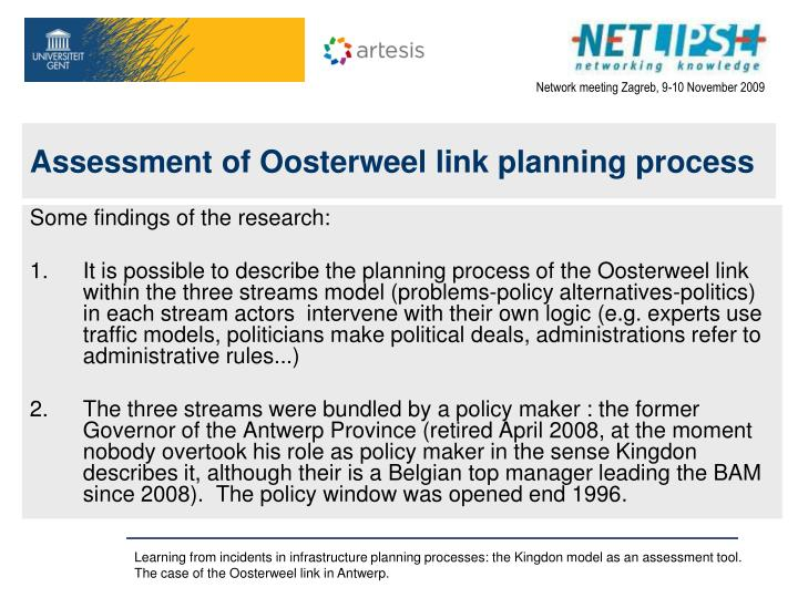 Assessment of Oosterweel link planning process