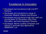 excellence in innovation