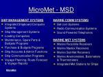 micromet msd
