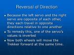 reversal of direction