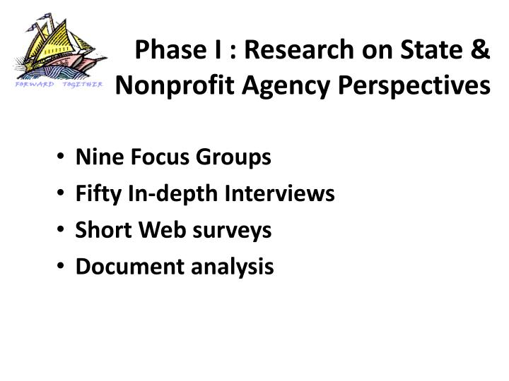 Phase I : Research on State &