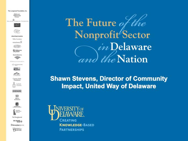 Shawn Stevens, Director of Community Impact, United Way of Delaware