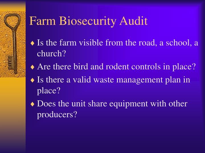 Farm Biosecurity Audit