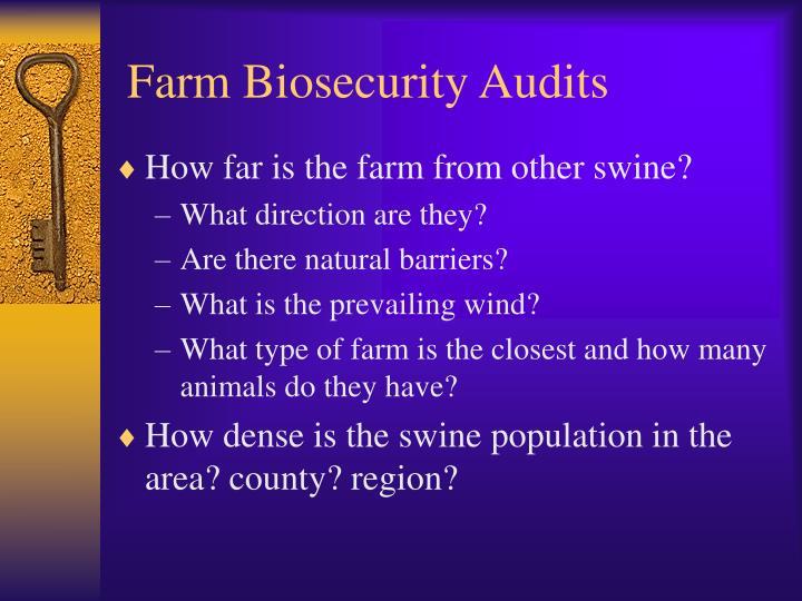 Farm Biosecurity Audits