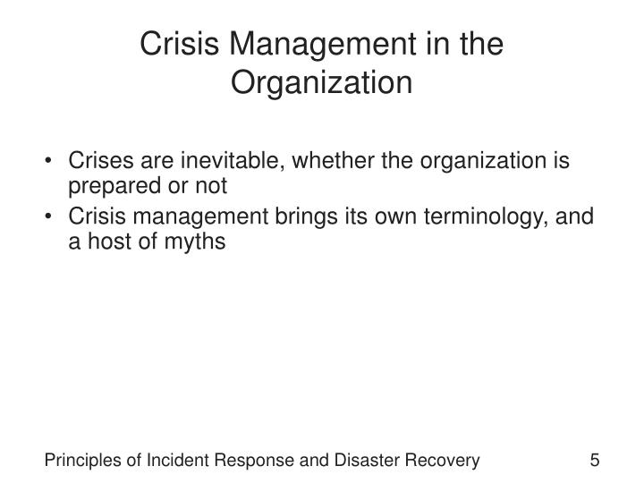 Crisis Management in the Organization