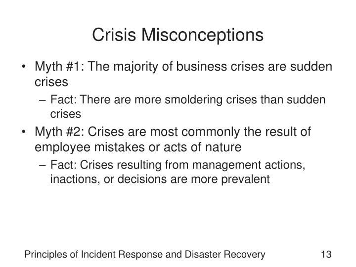 Crisis Misconceptions