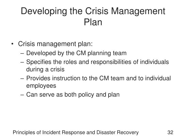 Developing the Crisis Management Plan