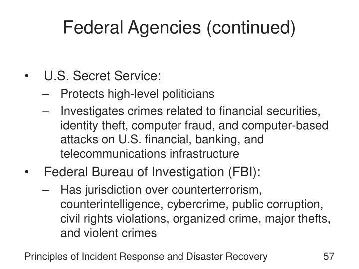 Federal Agencies (continued)