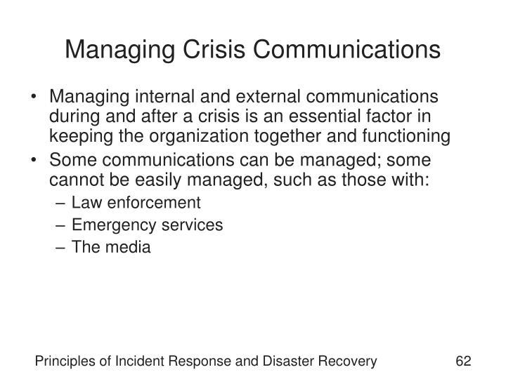 Managing Crisis Communications