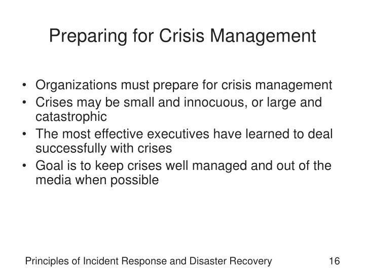 Preparing for Crisis Management