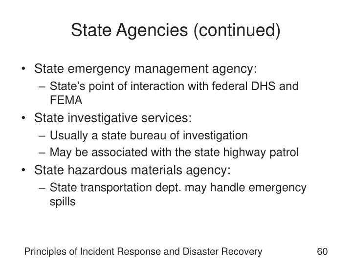 State Agencies (continued)