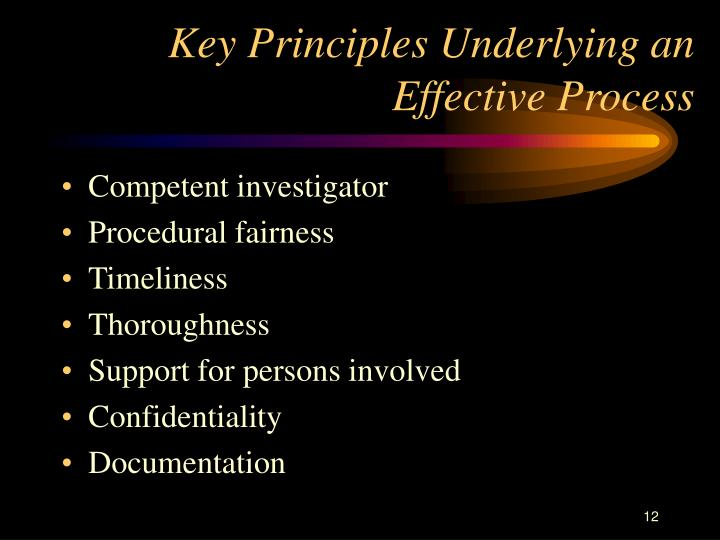 Key Principles Underlying an Effective Process