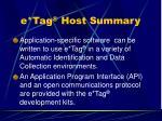 e tag host summary2