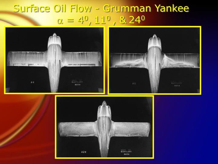 Surface Oil Flow - Grumman Yankee