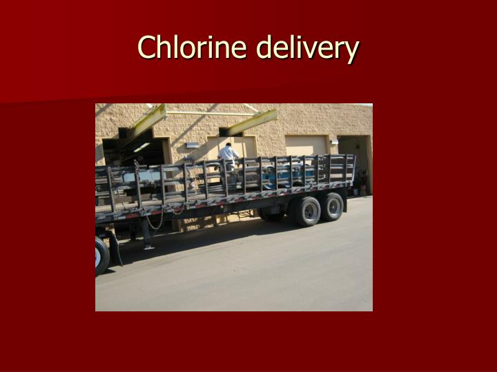 Chlorine delivery