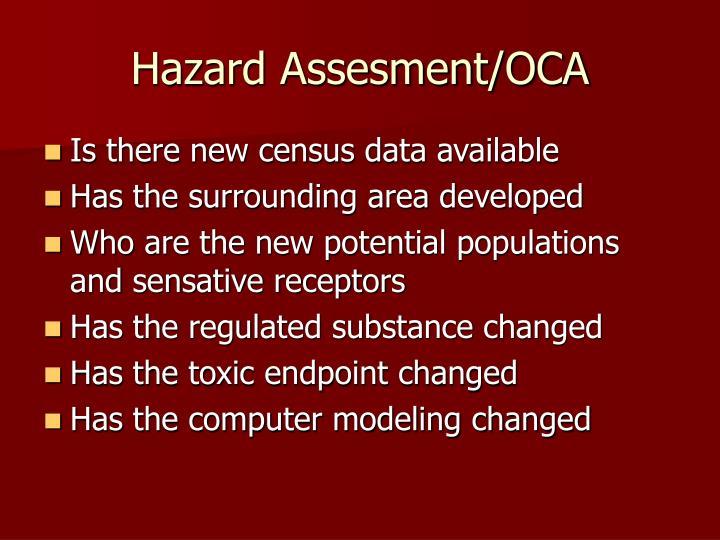 Hazard Assesment/OCA