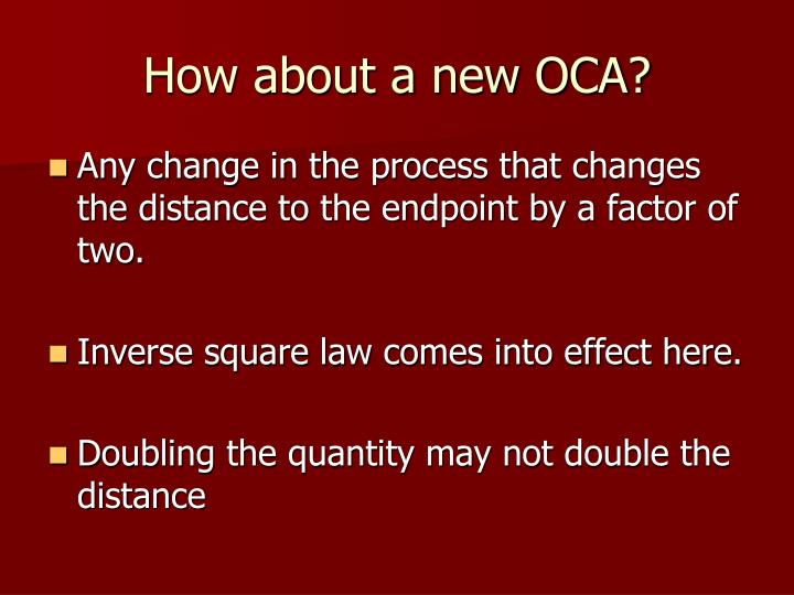 How about a new OCA?