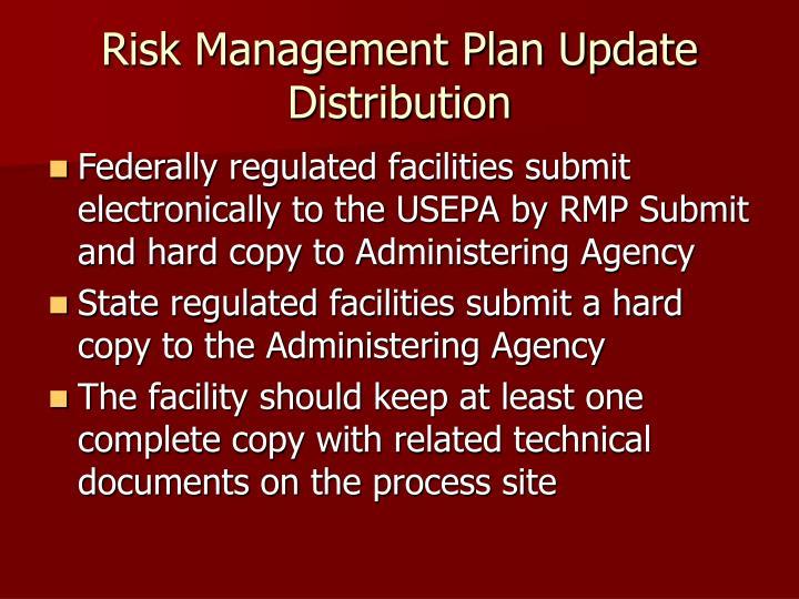 Risk Management Plan Update Distribution