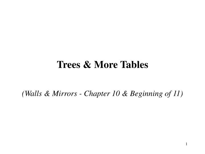 Trees more tables
