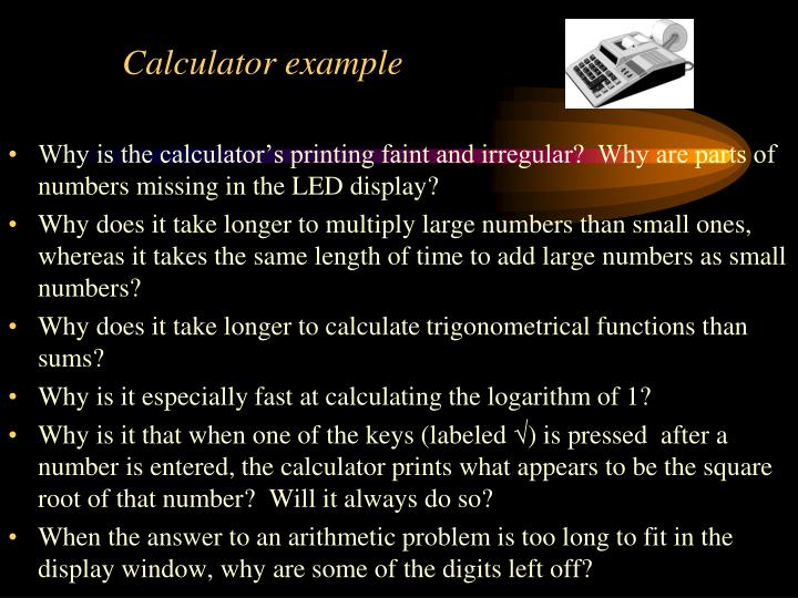 Calculator example