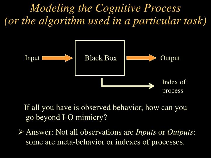 Modeling the Cognitive Process