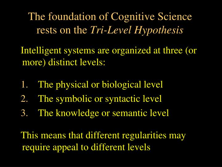 The foundation of Cognitive Science rests on the
