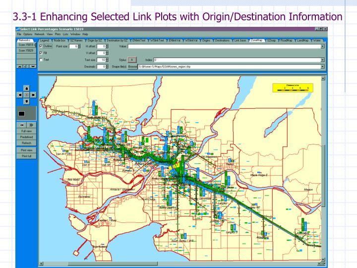 3.3-1 Enhancing Selected Link Plots with Origin/Destination Information