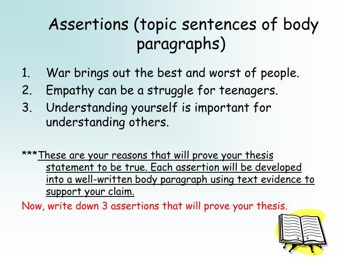 in a research essay the thesis statement is a summary of With the acronym tag, based off of the words it represents, its pretty clear that it will likely be used in a thesis statement for either a book report, book or essay.