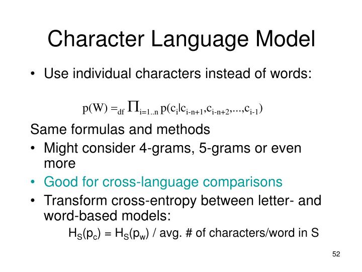 Character Language Model