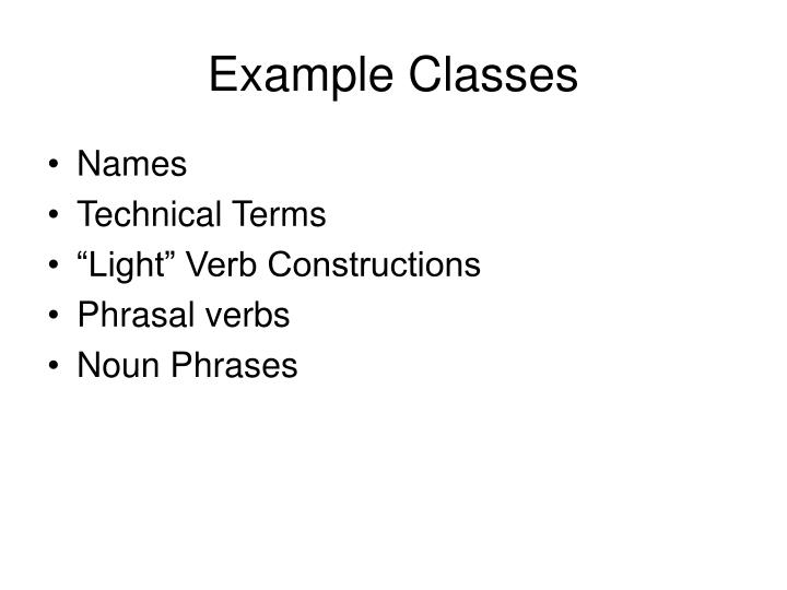 Example Classes