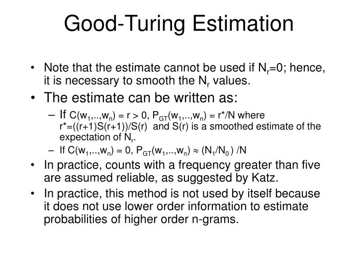 Good-Turing Estimation