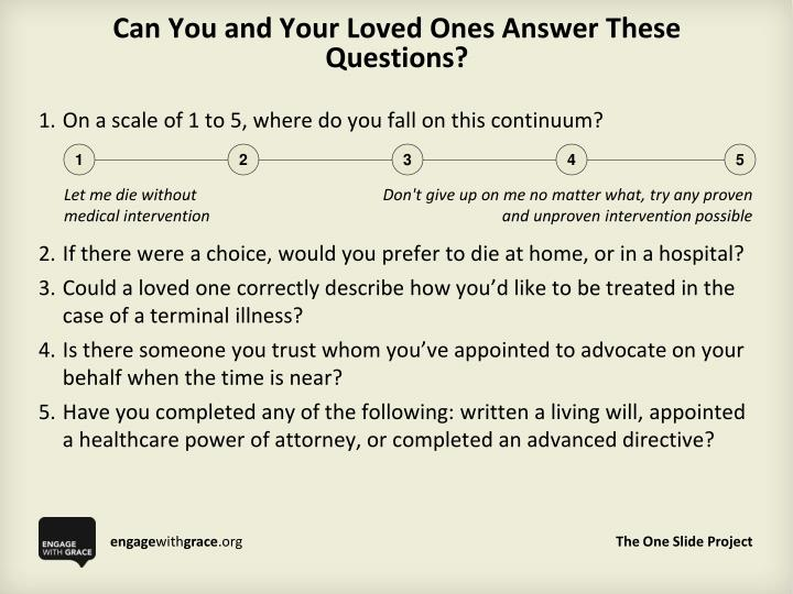 can you and your loved ones answer these questions