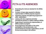 fcta its agencies