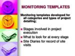 monitoring templates