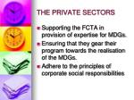 the private sectors