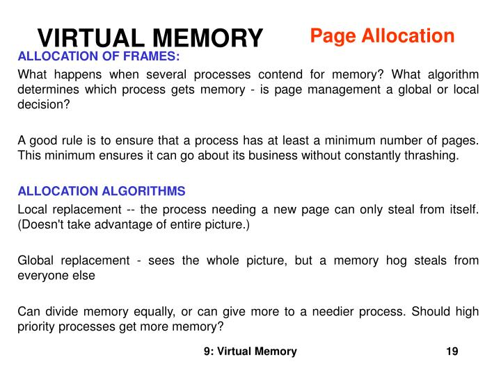Page Allocation