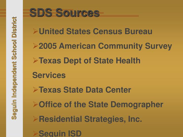 SDS Sources
