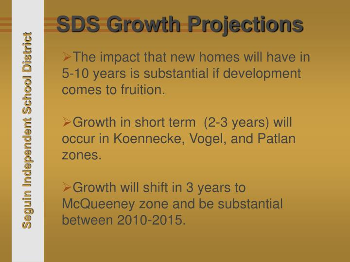 SDS Growth Projections