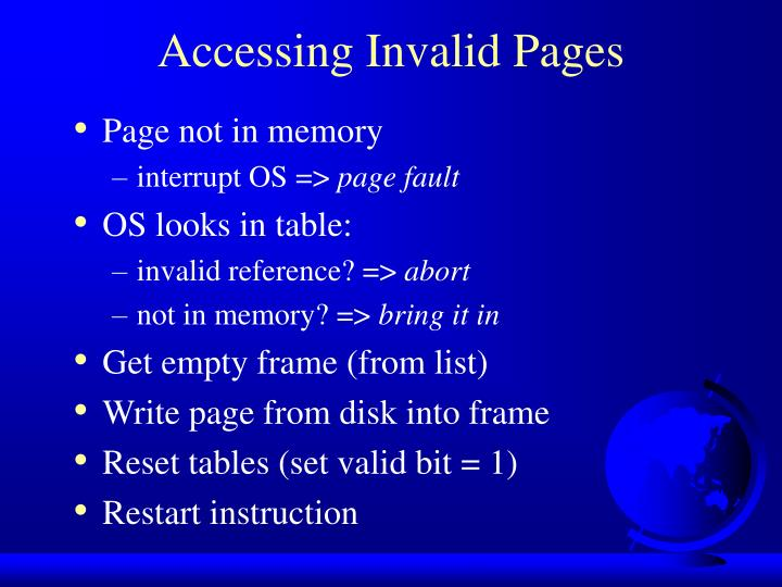Accessing Invalid Pages