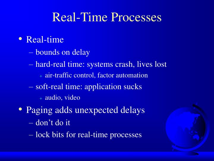 Real-Time Processes