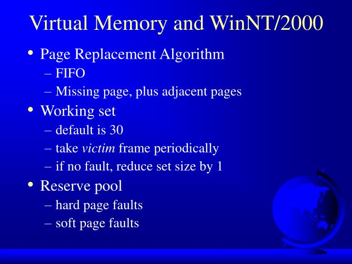 Virtual Memory and WinNT/2000