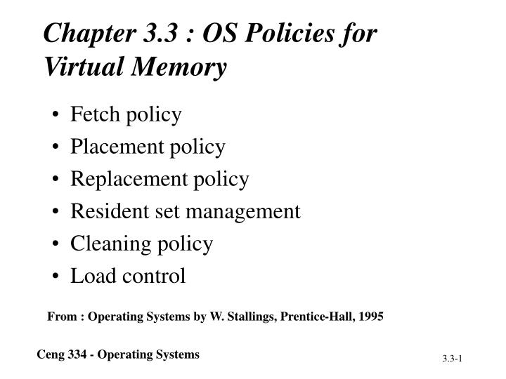 Chapter 3 3 os policies for virtual memory