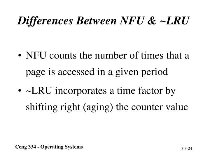 Differences Between NFU & ~LRU